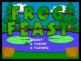 Frog Feast Neo Geo CD Title screen