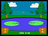 Frog Feast Neo Geo CD My opponent landed in the water