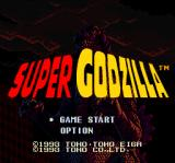 Super Godzilla SNES Title screen