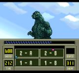 Super Godzilla SNES The different sections of the map
