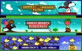Snoopy's Game Club DOS Main menu (EGA)