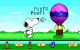 Snoopy's Game Club DOS Selecting a picture for animated puzzles (EGA)