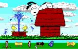 Snoopy's Game Club DOS After choosing an animated picture, it's scrambled up for you to fix (EGA)