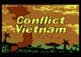 Conflict in Vietnam Atari 8-bit Title screen
