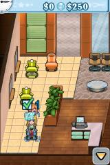 Sally's Salon iPhone Washing a customer's hair.