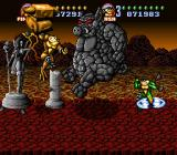Battletoads in Battlemaniacs SNES The Toads make short work of the beast