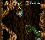 Battletoads in Battlemaniacs SNES A reptilian outgrowth from the wall of the cave