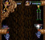 Battletoads in Battlemaniacs SNES Spring loaded legs allow the hover platform to be used offensively