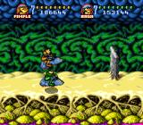 Battletoads in Battlemaniacs SNES Jumping walls in the turbo tunnel