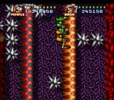 Battletoads in Battlemaniacs SNES The spikes make the snakes even more challenging