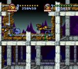 Battletoads in Battlemaniacs SNES Rocket pipes with an evil rat in hot pursuit