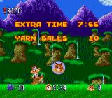 Bubsy in: Claws Encounters of the Furred Kind SNES Level clear