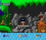 Bubsy in: Claws Encounters of the Furred Kind SNES Transporting using a secret passageway