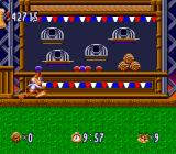 Bubsy in: Claws Encounters of the Furred Kind SNES A carnival-themed level