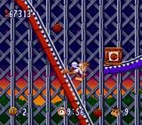 Bubsy in: Claws Encounters of the Furred Kind SNES Running on the roller coaster