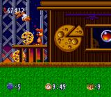 Bubsy in: Claws Encounters of the Furred Kind SNES The pizza station
