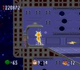Bubsy in: Claws Encounters of the Furred Kind SNES Using the teleporter inside the alien ship