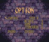 Castlevania: Dracula X SNES Options screen