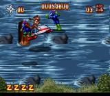 Zero the Kamikaze Squirrel SNES Enemies on the river