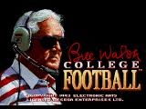 Bill Walsh College Football  SEGA CD Title screen