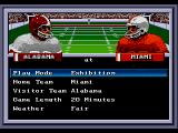 Bill Walsh College Football  SEGA CD Game setup