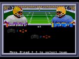 Bill Walsh College Football  SEGA CD Choose which side to play