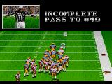 Bill Walsh College Football  SEGA CD Incomplete pass
