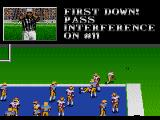 Bill Walsh College Football  SEGA CD Pass interference