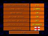 Championship Soccer '94 SEGA CD Options