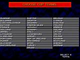 Championship Soccer '94 SEGA CD These are the teams you can choose among