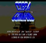 Cobra Command SEGA CD Title screen