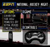ESPN National Hockey Night SEGA CD Main menu
