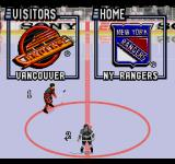 ESPN National Hockey Night SEGA CD Selecting which team to play