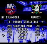 ESPN National Hockey Night SEGA CD Statistics after the first period