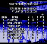 ESPN National Hockey Night SEGA CD The standings so far
