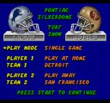 ESPN Sunday Night NFL SEGA CD Main menu