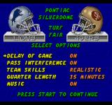 ESPN Sunday Night NFL SEGA CD Options