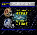 ESPN Sunday Night NFL SEGA CD These two teams will compete