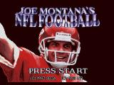 Joe Montana's NFL Football SEGA CD Title screen