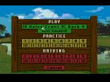 Links: The Challenge of Golf SEGA CD Game menu
