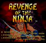 Revenge of the Ninja SEGA CD Title screen