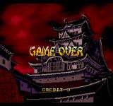 Revenge of the Ninja SEGA CD Game over