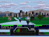 Road Rash SEGA CD Racing in the city