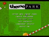 Theme Park SEGA CD Main menu
