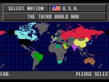 Third World War SEGA CD Selecting which country to play