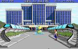 Les Manley in: Search for the King DOS Outside Las Vagas Hotel.