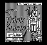 Think Quick! DOS Title screen (Hercules Monochrome)
