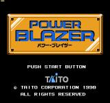 Power Blazer NES Title screen