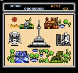 Power Blazer NES The first six sectors can be played in any order
