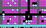 Boulder Dash PC Booter Beginning the second level (CGA)